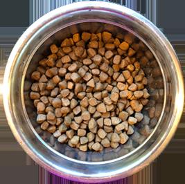 bowl three of dog food showing low diversity
